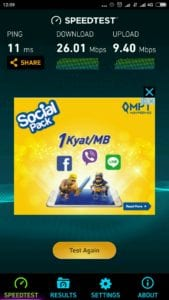 MPT 4G Speedtest LTE Junction Square Yangon Myanmar