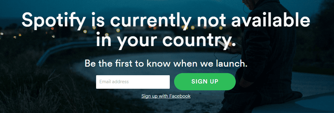 Spotify not available in Myanmar message