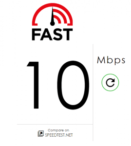 Ooredoo Myanmar Fast.com results