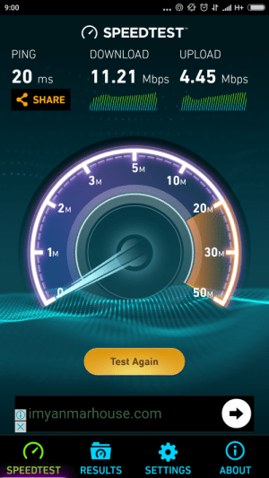 Telenor 3G Speedtest