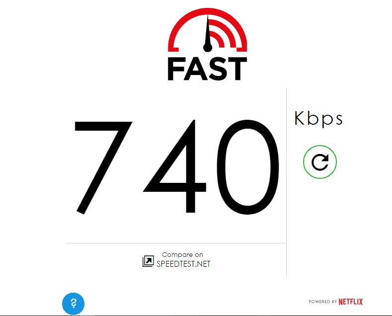 Telenor Myanmar Fast.com results