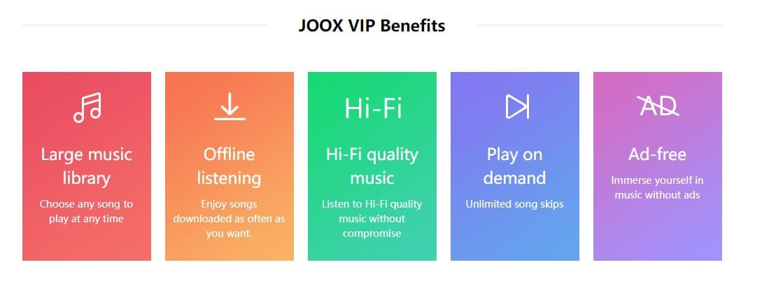 Joox VIP Myanmar Streaming Music Spotify
