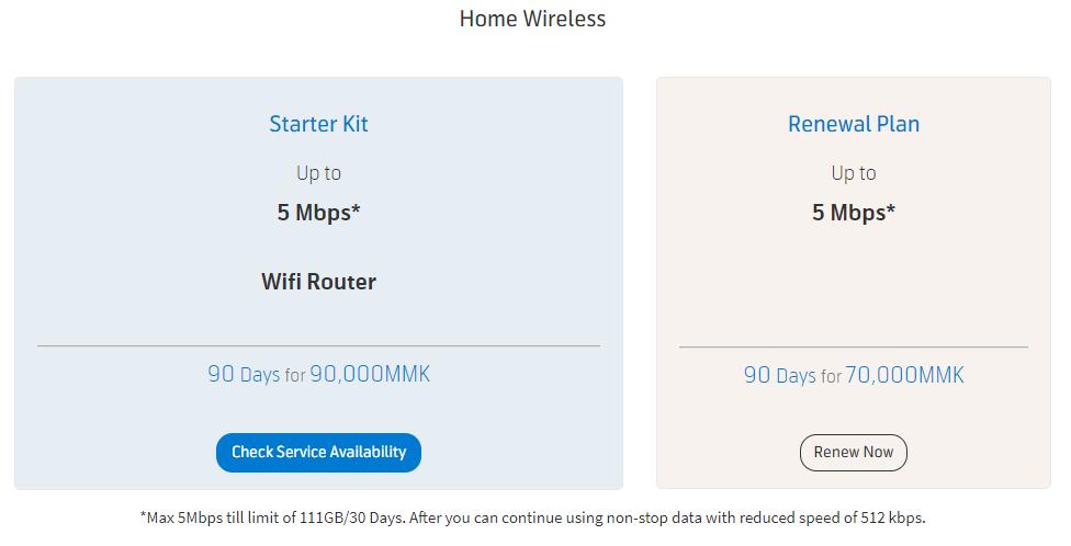 Telenor Broadband Packages Add-Ons Internet Myanmar Yangon LTE 4G