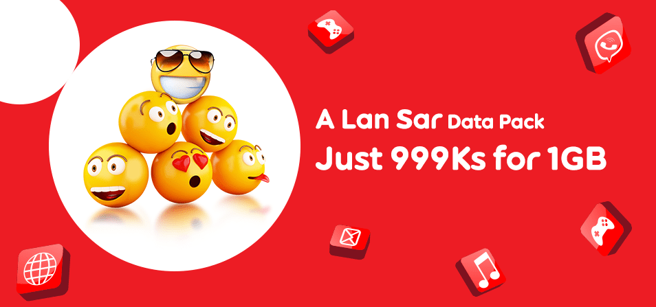 Ooredoo Myanmar A Lan Sar Data Pack 4G LTE 3G Mobile Data in Myanmar
