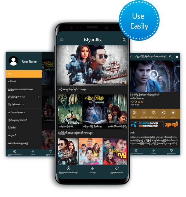 Myanflix Telenor OTT VOD Streaming Internet in Myanmar