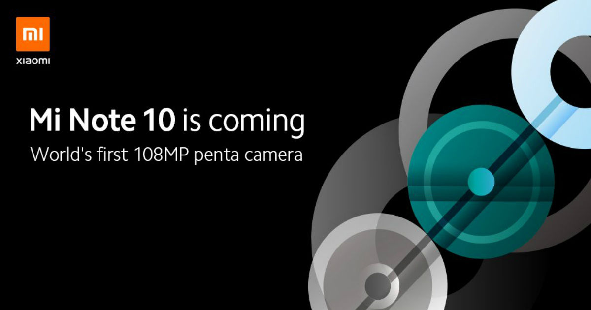 Mi Note 10 with 108MP camera is launching on 14 November